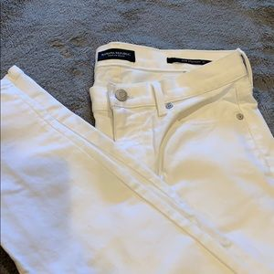 Banana republic white jeans.